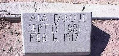 FARQUE, ADA - Pinal County, Arizona | ADA FARQUE - Arizona Gravestone Photos