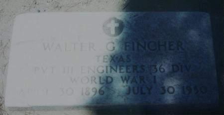 FINCHER, WALTER G. - Pinal County, Arizona | WALTER G. FINCHER - Arizona Gravestone Photos