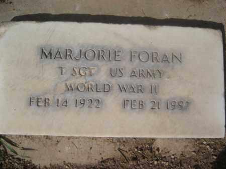 FORAN, MARJORIE - Pinal County, Arizona | MARJORIE FORAN - Arizona Gravestone Photos