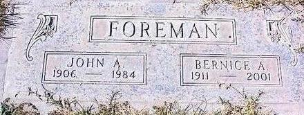 FOREMAN, BERNICE A. - Pinal County, Arizona | BERNICE A. FOREMAN - Arizona Gravestone Photos