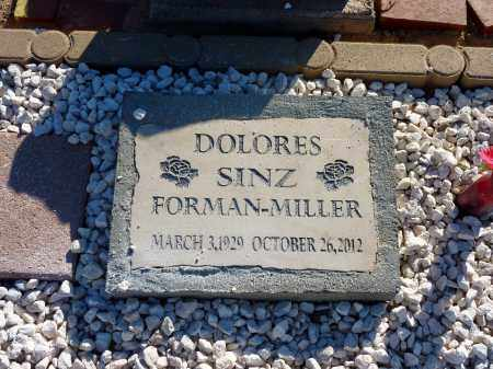 SINZ FORMAN-MILLER, DOLORES - Pinal County, Arizona   DOLORES SINZ FORMAN-MILLER - Arizona Gravestone Photos