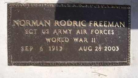 FREEMAN, NORMAN RODRIC - Pinal County, Arizona | NORMAN RODRIC FREEMAN - Arizona Gravestone Photos