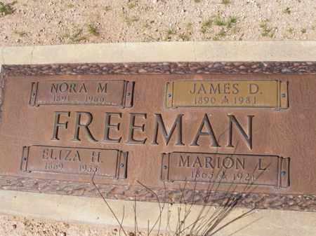 FREEMAN, NORA M. - Pinal County, Arizona | NORA M. FREEMAN - Arizona Gravestone Photos