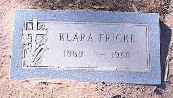 FRICKE, KLARA - Pinal County, Arizona | KLARA FRICKE - Arizona Gravestone Photos