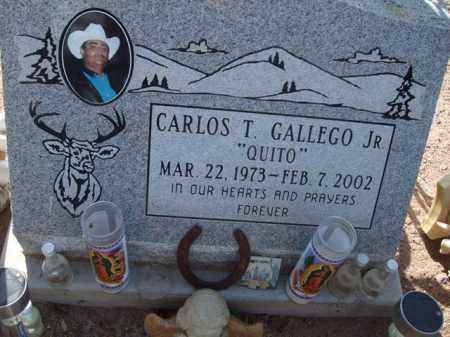 "GALLEGO, CARLOS T. ""QUITO"", JR. - Pinal County, Arizona | CARLOS T. ""QUITO"", JR. GALLEGO - Arizona Gravestone Photos"