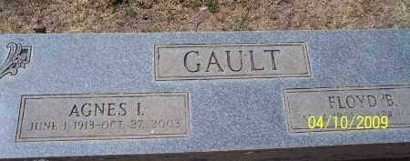 GAULT, AGNES I - Pinal County, Arizona | AGNES I GAULT - Arizona Gravestone Photos