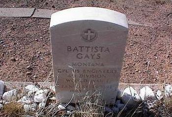 GAYS, BATTISTA - Pinal County, Arizona | BATTISTA GAYS - Arizona Gravestone Photos