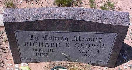 GEORGE, RICHARD K. - Pinal County, Arizona | RICHARD K. GEORGE - Arizona Gravestone Photos