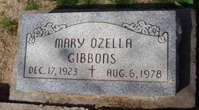 GIBBONS, MARY OZELLA - Pinal County, Arizona | MARY OZELLA GIBBONS - Arizona Gravestone Photos