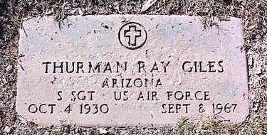 GILES, THURMAN RAY - Pinal County, Arizona | THURMAN RAY GILES - Arizona Gravestone Photos