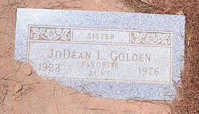 GOLDEN, JODEAN L. - Pinal County, Arizona | JODEAN L. GOLDEN - Arizona Gravestone Photos