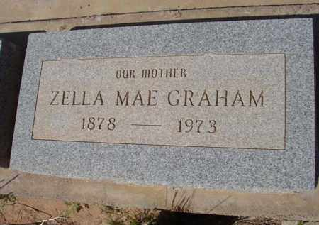 GRAHAM, ZELLA MAE - Pinal County, Arizona | ZELLA MAE GRAHAM - Arizona Gravestone Photos