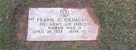 GRIMLAND, FRANK C. - Pinal County, Arizona | FRANK C. GRIMLAND - Arizona Gravestone Photos