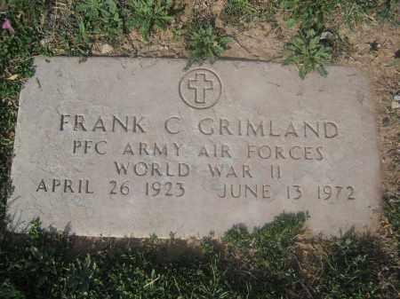 GRIMLAND, FRANK C. - Pinal County, Arizona   FRANK C. GRIMLAND - Arizona Gravestone Photos