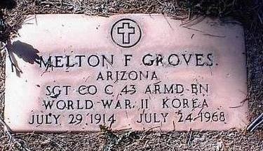 GROVES, MELTON F. - Pinal County, Arizona | MELTON F. GROVES - Arizona Gravestone Photos
