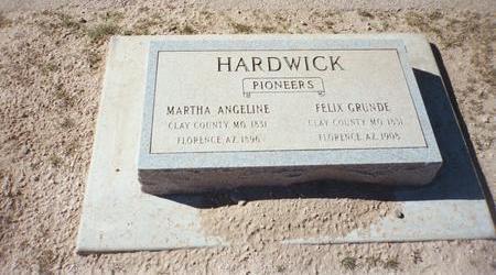 HARDWICK, MARTHA - Pinal County, Arizona | MARTHA HARDWICK - Arizona Gravestone Photos