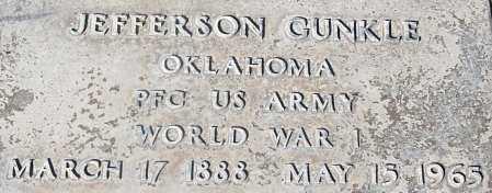 GUNKLE, JEFFERSON E. - Pinal County, Arizona   JEFFERSON E. GUNKLE - Arizona Gravestone Photos