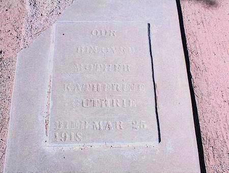 GUTHRIE, KATHERINE - Pinal County, Arizona   KATHERINE GUTHRIE - Arizona Gravestone Photos