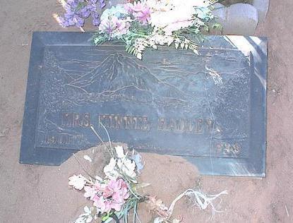 HADLEY, MINNIE MRS. - Pinal County, Arizona | MINNIE MRS. HADLEY - Arizona Gravestone Photos