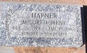 HAFNER, MILDRED IRENE - Pinal County, Arizona | MILDRED IRENE HAFNER - Arizona Gravestone Photos