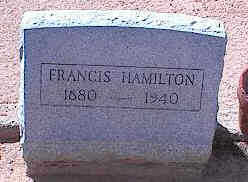 HAMILTON, FRANCIS - Pinal County, Arizona | FRANCIS HAMILTON - Arizona Gravestone Photos