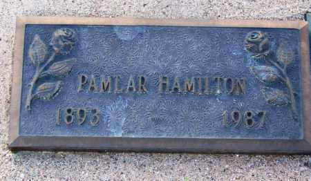 HAMILTON, PAMLAR - Pinal County, Arizona | PAMLAR HAMILTON - Arizona Gravestone Photos