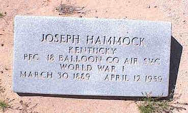 HAMMOCK, JOSEPH - Pinal County, Arizona   JOSEPH HAMMOCK - Arizona Gravestone Photos