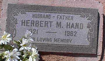 HAND, HERBERT M. - Pinal County, Arizona | HERBERT M. HAND - Arizona Gravestone Photos