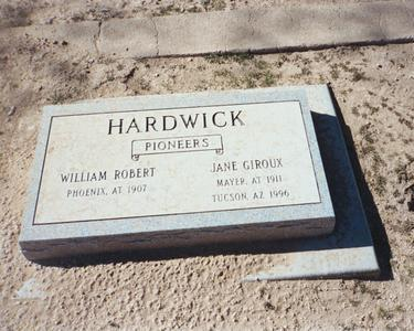 HARDWICK, WILLIAM R. - Pinal County, Arizona | WILLIAM R. HARDWICK - Arizona Gravestone Photos