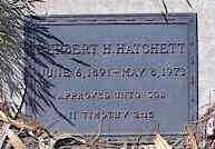 HATCHETT, HERBERT H. - Pinal County, Arizona | HERBERT H. HATCHETT - Arizona Gravestone Photos