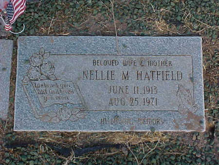 HATFIELD, NELLIE  M. - Pinal County, Arizona | NELLIE  M. HATFIELD - Arizona Gravestone Photos