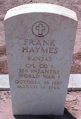 HAYMES, FRANK - Pinal County, Arizona | FRANK HAYMES - Arizona Gravestone Photos