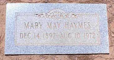 HAYMES, MARY MAY - Pinal County, Arizona | MARY MAY HAYMES - Arizona Gravestone Photos