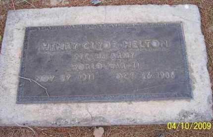HELTON, HENRY CLYDE - Pinal County, Arizona | HENRY CLYDE HELTON - Arizona Gravestone Photos
