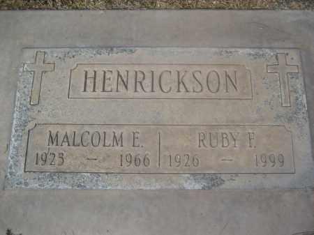 HENRICKSON, MALCOLM E. - Pinal County, Arizona | MALCOLM E. HENRICKSON - Arizona Gravestone Photos