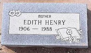 HENRY, EDITH - Pinal County, Arizona | EDITH HENRY - Arizona Gravestone Photos