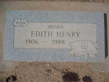 HENRY, EDITH - Pinal County, Arizona   EDITH HENRY - Arizona Gravestone Photos