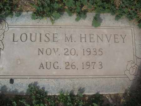 HENVEY, LOUISE M. - Pinal County, Arizona   LOUISE M. HENVEY - Arizona Gravestone Photos
