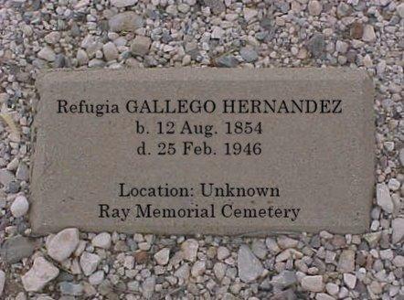 GALLEGO HERNANDEZ, REFUGIA - Pinal County, Arizona | REFUGIA GALLEGO HERNANDEZ - Arizona Gravestone Photos