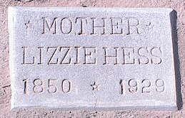 PFANTZ HESS, LIZZIE - Pinal County, Arizona   LIZZIE PFANTZ HESS - Arizona Gravestone Photos
