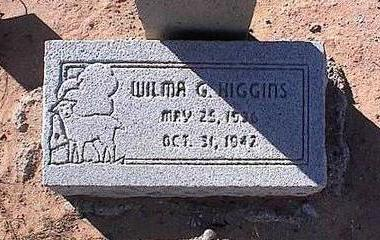 HIGGINS, WILMA G. - Pinal County, Arizona | WILMA G. HIGGINS - Arizona Gravestone Photos