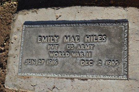 HILES, EMILY MAE - Pinal County, Arizona | EMILY MAE HILES - Arizona Gravestone Photos