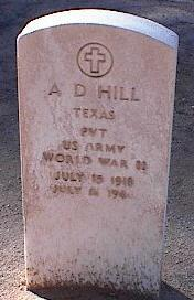 HILL, A.D. - Pinal County, Arizona   A.D. HILL - Arizona Gravestone Photos