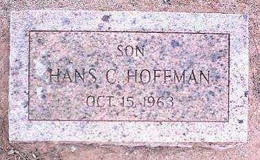 HOFFMAN, HANS C. - Pinal County, Arizona | HANS C. HOFFMAN - Arizona Gravestone Photos