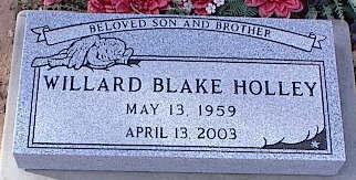 HOLLEY, WILLARD BLAKE - Pinal County, Arizona   WILLARD BLAKE HOLLEY - Arizona Gravestone Photos