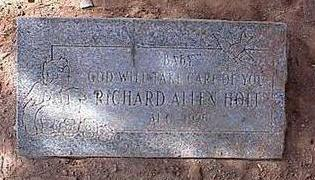 HOLT, RICHARD ALLEN - Pinal County, Arizona | RICHARD ALLEN HOLT - Arizona Gravestone Photos