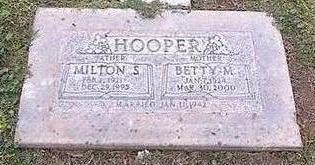 HOOPER, MILTON S. - Pinal County, Arizona | MILTON S. HOOPER - Arizona Gravestone Photos