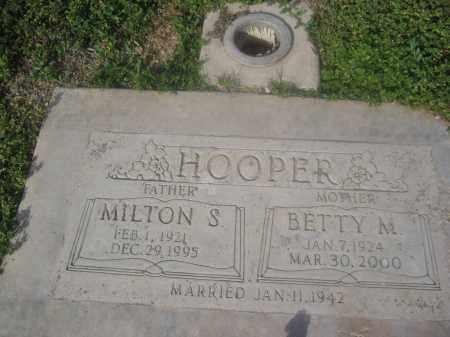 HOOPER, MILTON S. - Pinal County, Arizona   MILTON S. HOOPER - Arizona Gravestone Photos