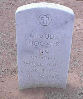 HOOVER, CLAUDE - Pinal County, Arizona | CLAUDE HOOVER - Arizona Gravestone Photos