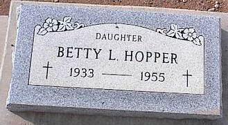 HOPPER, BETTY L. - Pinal County, Arizona | BETTY L. HOPPER - Arizona Gravestone Photos
